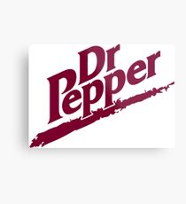 Dr Pepper 90s White Background Metal Print