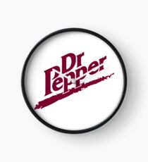 Dr Pepper 90s White Background Clock