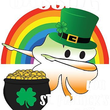 Dabbing For St. Patricks Day Leprechaun Shamrock by KelaEssentials