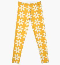 Two-Tone Daisy Pattern Leggings