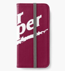 Dr Pepper 90s Maroon Background iPhone Wallet/Case/Skin