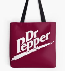 Dr Pepper 90s Maroon Background Tote Bag
