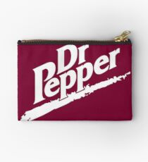 Dr Pepper 90s Maroon Background Studio Pouch