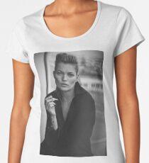 Smoking Kate Moss black and white photo Women's Premium T-Shirt