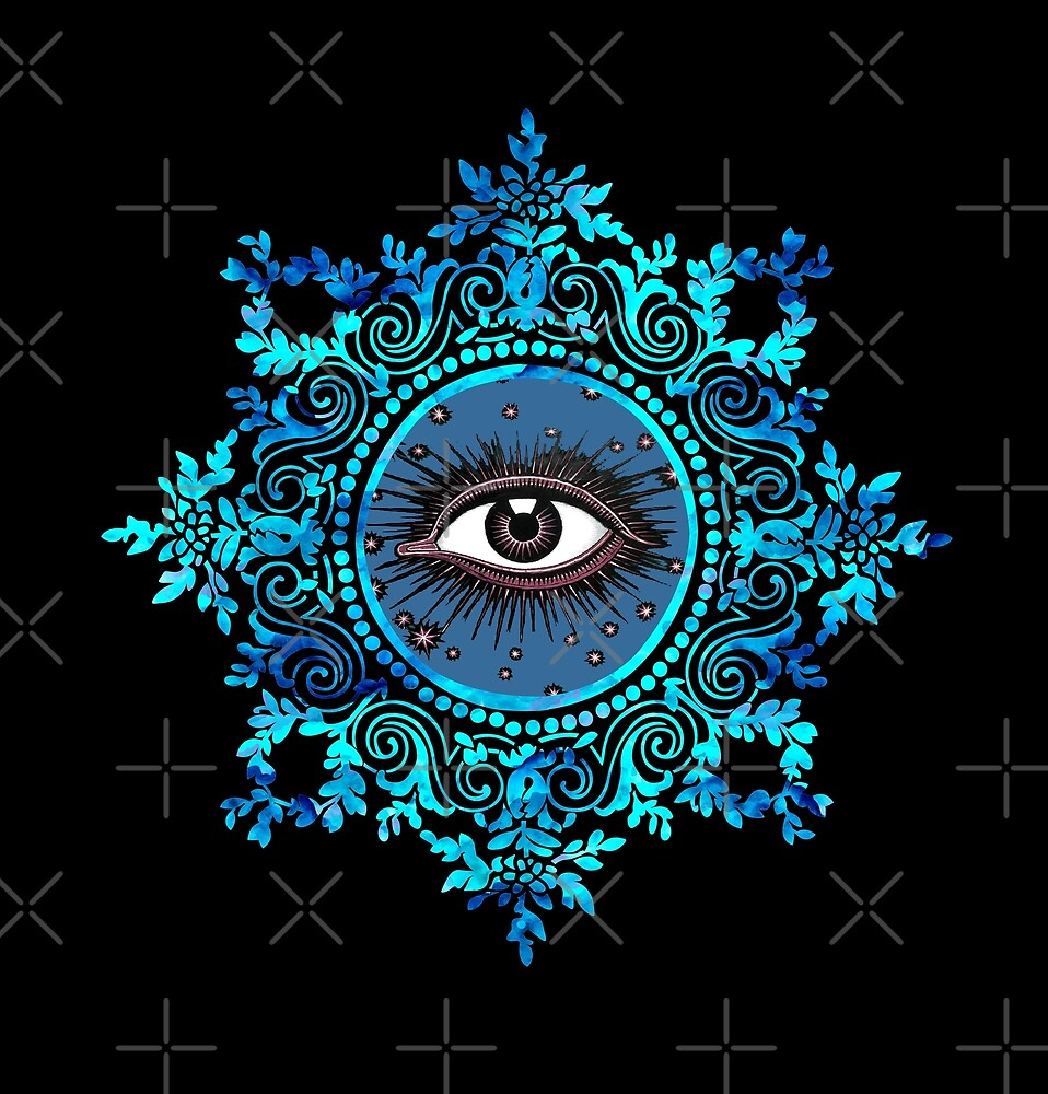 Psychic Eye All Seeing Eye Turquoise By Demetersspring