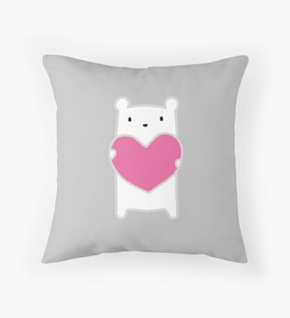 Polar Bear Love Throw Pillow