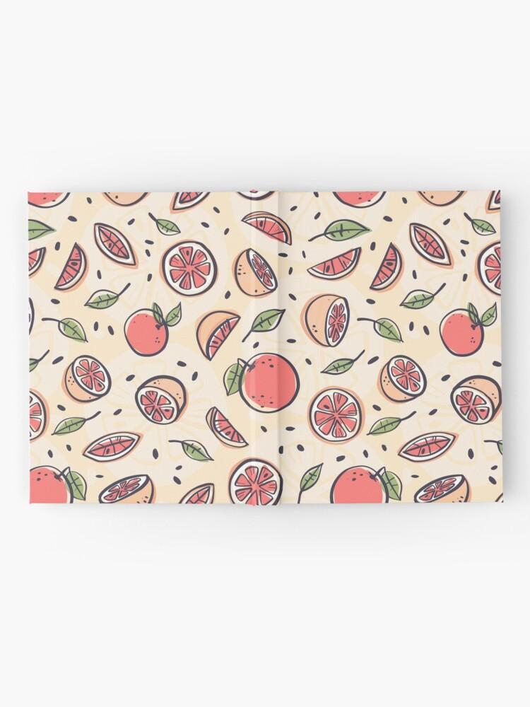 Vista alternativa de Cuaderno de tapa dura Pomelo rojo para el desayuno