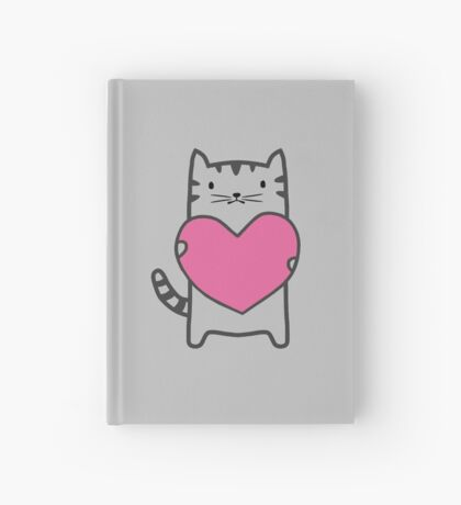 Grey Cat Love Hardcover Journal