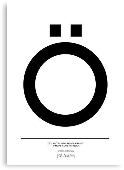 Letter O Swedish Typography Art By Natalie Digital Cloud