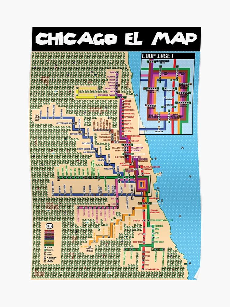 Super Mario Chicago El Map | Poster