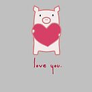 Pig Love by whatsandramakes