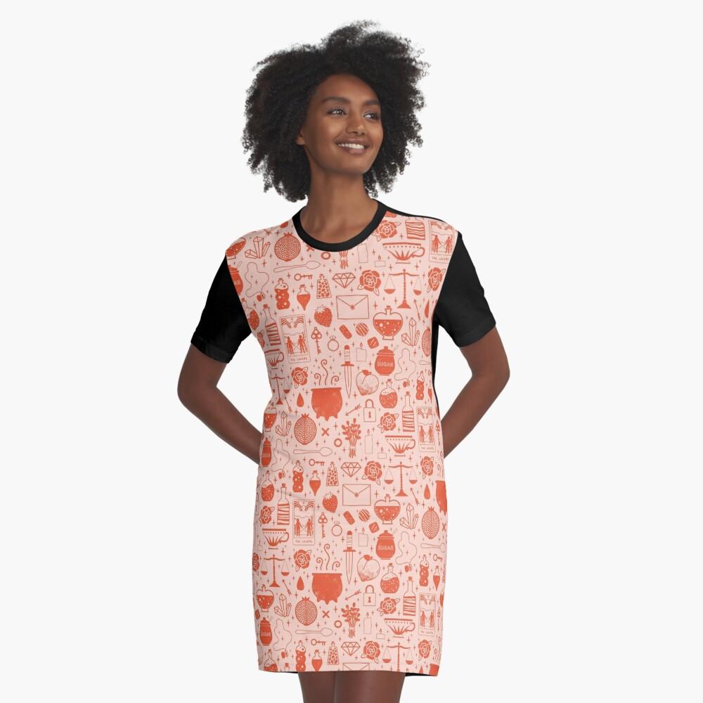 Love Potion: Valentine Graphic T-Shirt Dress