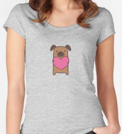 Puppy Love Fitted Scoop T-Shirt