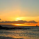 Maui sunset from Napili Beach by Barb White