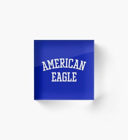 American Eagle (White) Acrylic Block