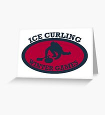 Ice Curling | Winter Games  Greeting Card