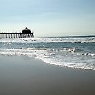 Far Away View of The Huntington Beach Pier by OceanPeaceful