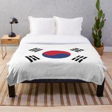 South Korea Throw Blanket