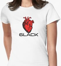 Love/Heart 6LACK Women's Fitted T-Shirt