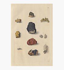 Vintage Mineralien Fotodruck