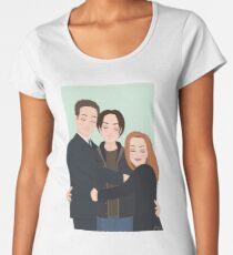 The X-Files - Mulder, Scully and William Women's Premium T-Shirt