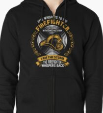 Fate Whispers To The Firefighter You Cannot Withst Zipped Hoodie