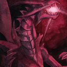 'Flash Flare', Yu-Gi-Oh! Red Eyes Black Dragon painting by primalarc