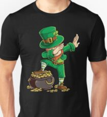 Dabbing Leprechaun T-shirt Funny Dab St Patricks Day Gifts Unisex T-Shirt