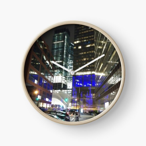 Street, City, Buildings, Photo, Day, Trees, New York, Manhattan, Brooklyn Clock
