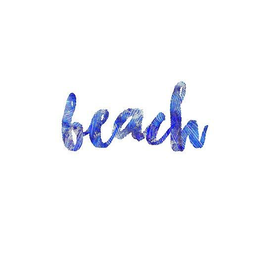 Dark blue 'Beach' Typography Design by Tayla Williams