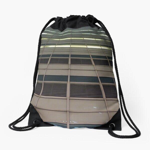 Street, City, Buildings, Photo, Day, Trees, New York, Manhattan, Brooklyn Drawstring Bag