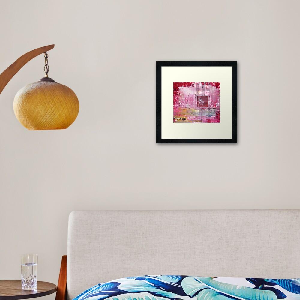 Gridrose Framed Art Print