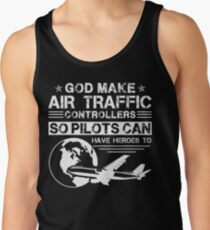 God Made Air Traffic Controllers Shirt Men's Tank Top