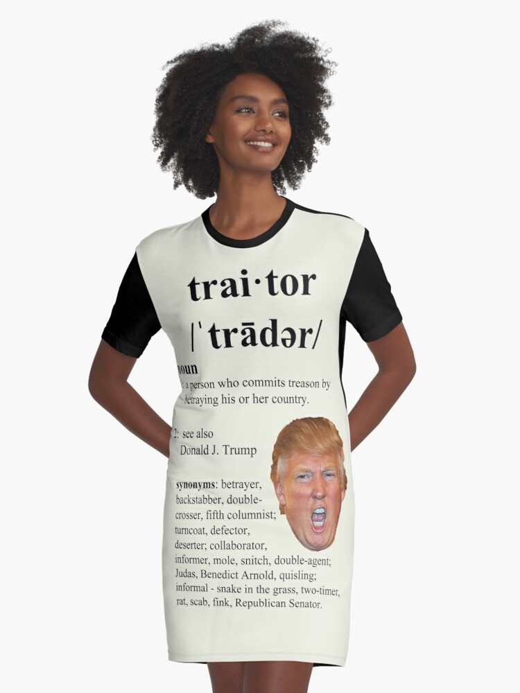 'trump traitor' Graphic T-Shirt Dress by Thelittlelord