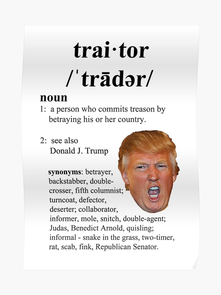trump traitor | Poster