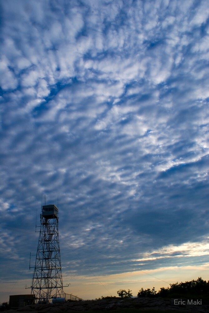 Wachusett Mtn Sky and Fire Watch Tower  by Eric Maki