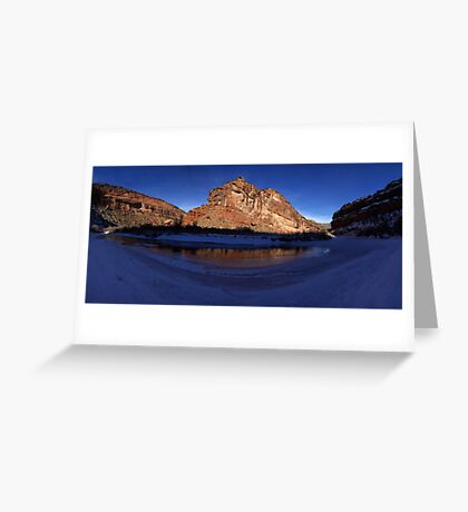 Unaweep Canyon, Frozen Dolores River Greeting Card