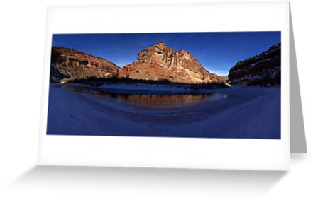 Unaweep Canyon, Frozen Dolores River by Brian Hendricks