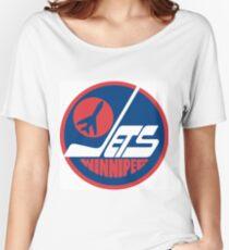 Winnipeg Jets Logo Women's Relaxed Fit T-Shirt