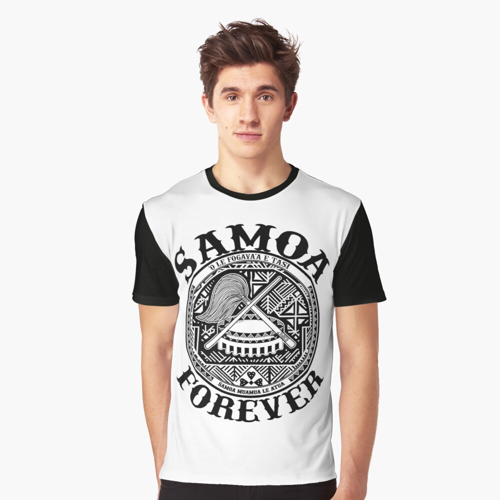 Samoa Forever Crest Seal Design Graphic T Shirt By Chaoticclothing