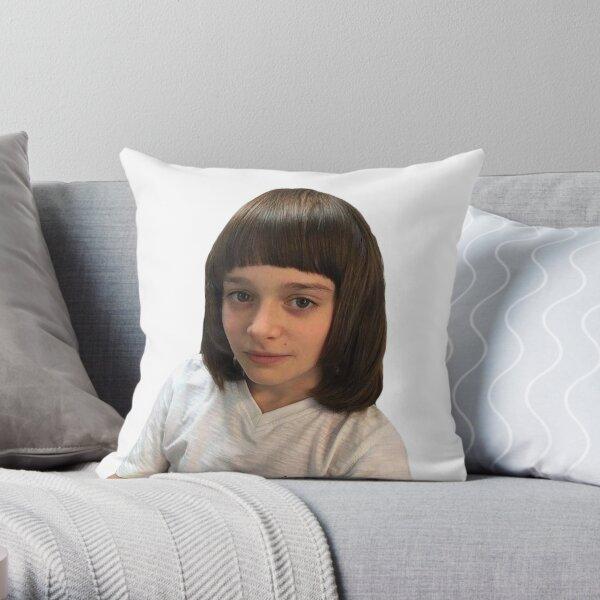 noah schnapp meme - mental breakdown bangs haircut at 2am - stranger things Throw Pillow