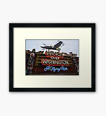 Wings Over Washington: A Flying Ride Framed Print