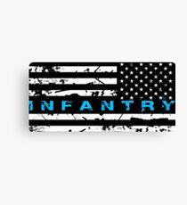 Army Infantry Blue Canvas Print