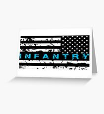 Army Infantry Blue Greeting Card