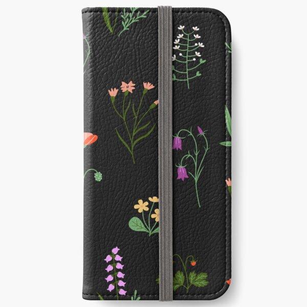 Wildflowers Pattern iPhone Wallet