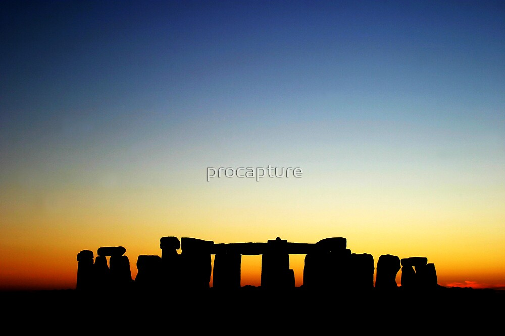 Stonehenge in sunset by procapture