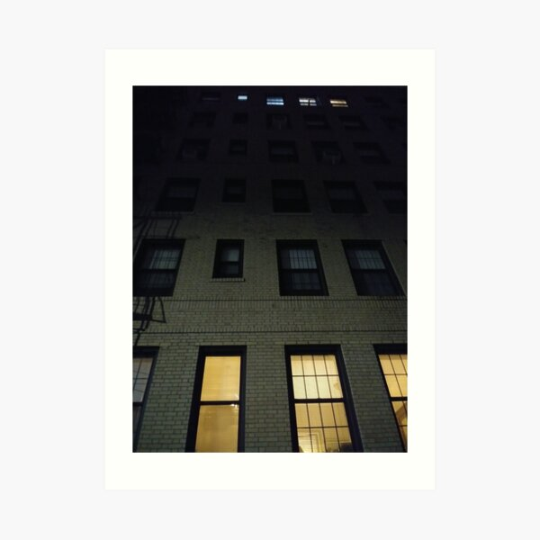 Street, City, Buildings, Photo, Day, Trees, New York, Manhattan, Brooklyn Art Print