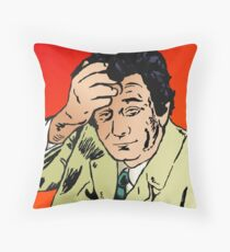 Columbo Deep Thinking Throw Pillow