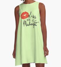 Kiss me at Midnight A-Line Dress