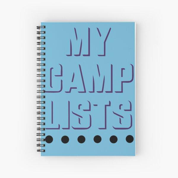 My Camp Lists Spiral Notebook